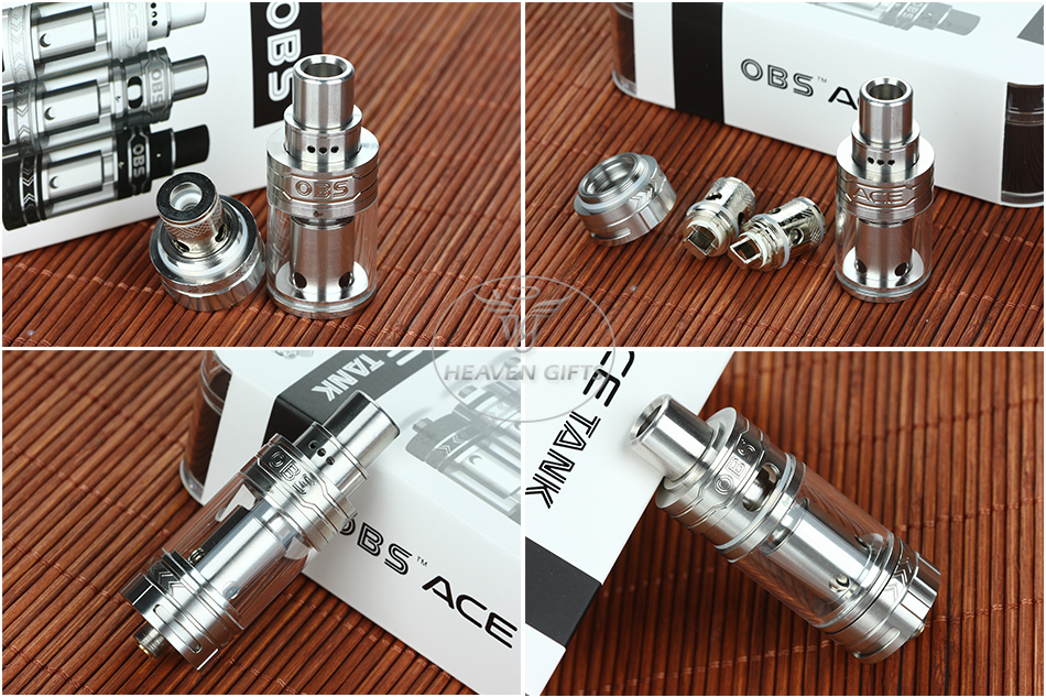 OBS ACE Tank Atomizer - 4.5ml, Steel