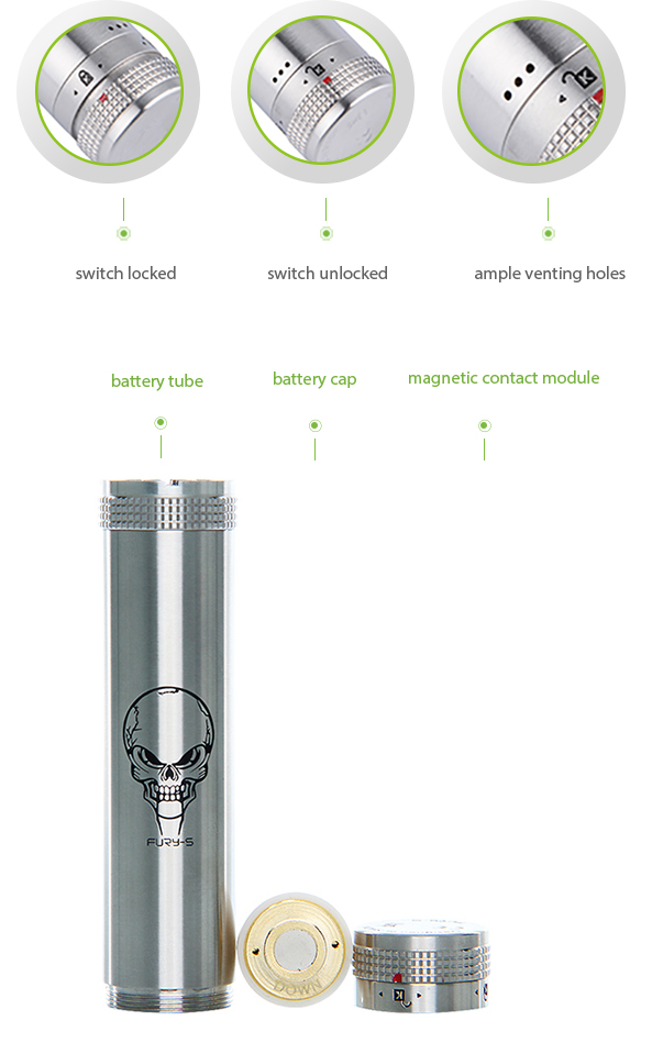 SMOK FURY-S 18650 Mechanical Mod