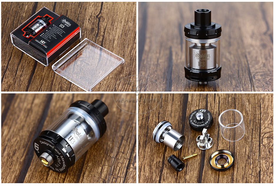 UD Goblin Mini V3 RTA Atomizer - 2ml, Black