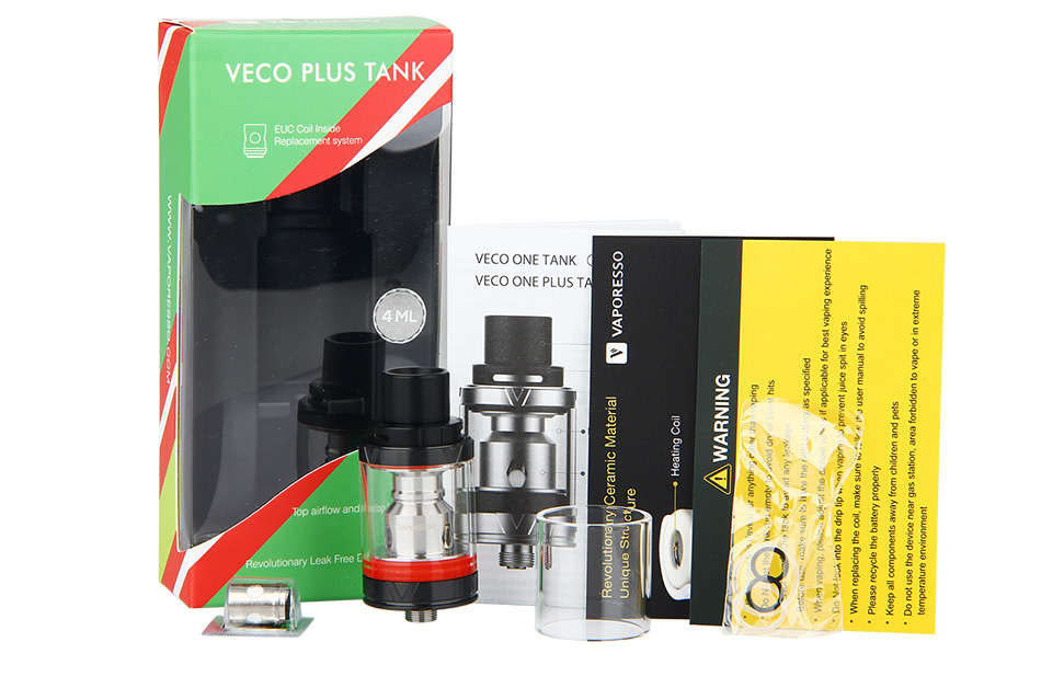 Vaporesso VECO Plus Tank - 4ml, Black.psd