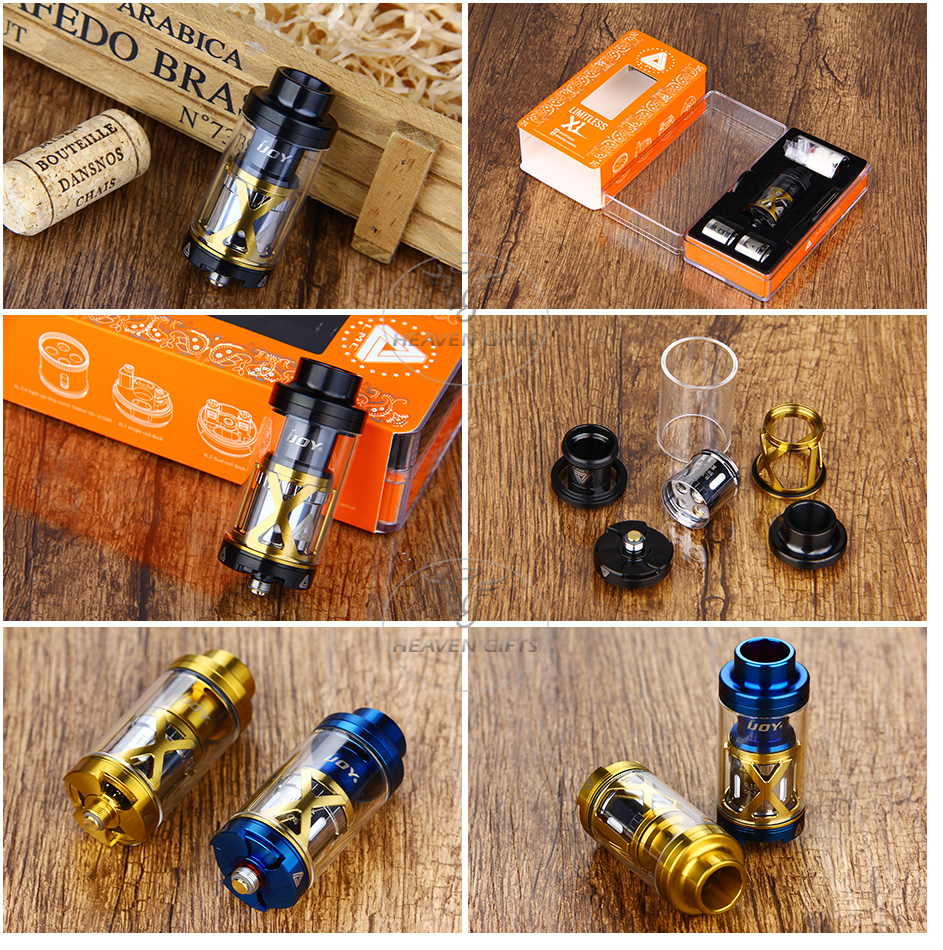 IJOY Limitless XL Tank & RTA - 4ml, Black & Blue & Gold