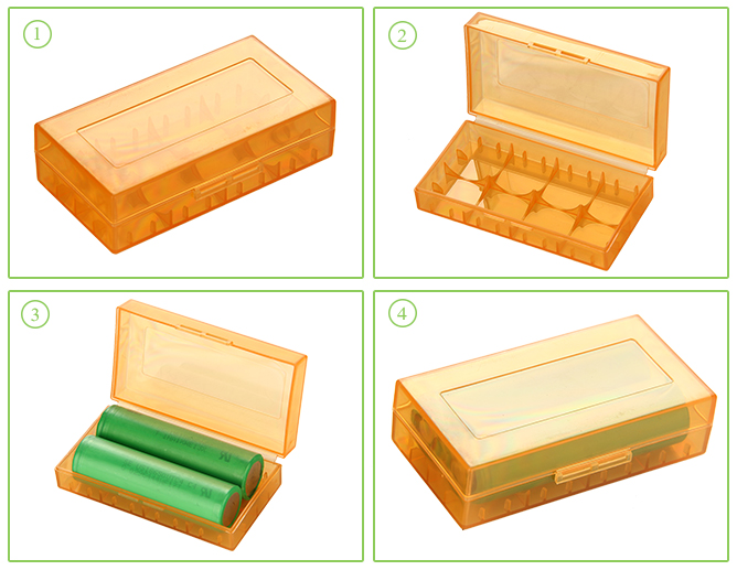 Plastic Storage Case for 18650 Battery