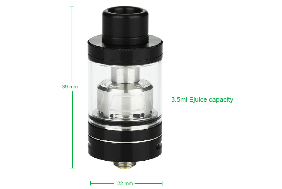 WOTOFO Conqueror Mini RTA - 2.5ml, Black