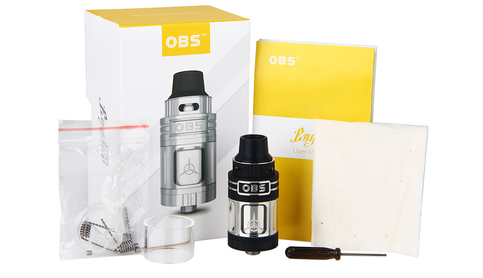 OBS Engine Mini RTA Tank - 3.5ml, Black