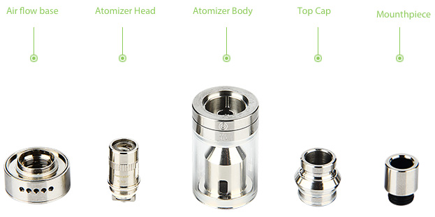 WISMEC Amor Plus Tank Atomizer with Airflow Control - 3.8ml