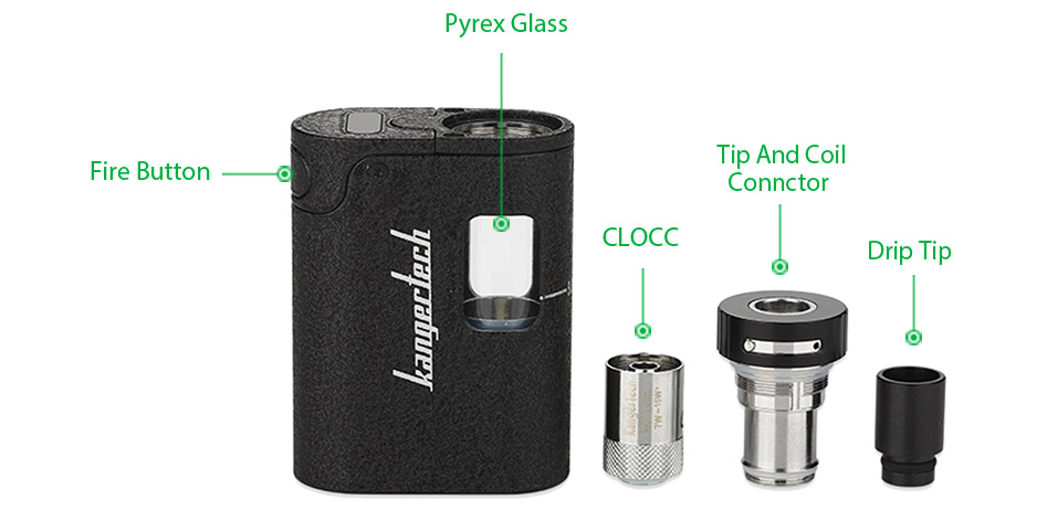 Kangertech TOGO Mini 2.0 Starter Kit - 1600mAh, Versi 2ml