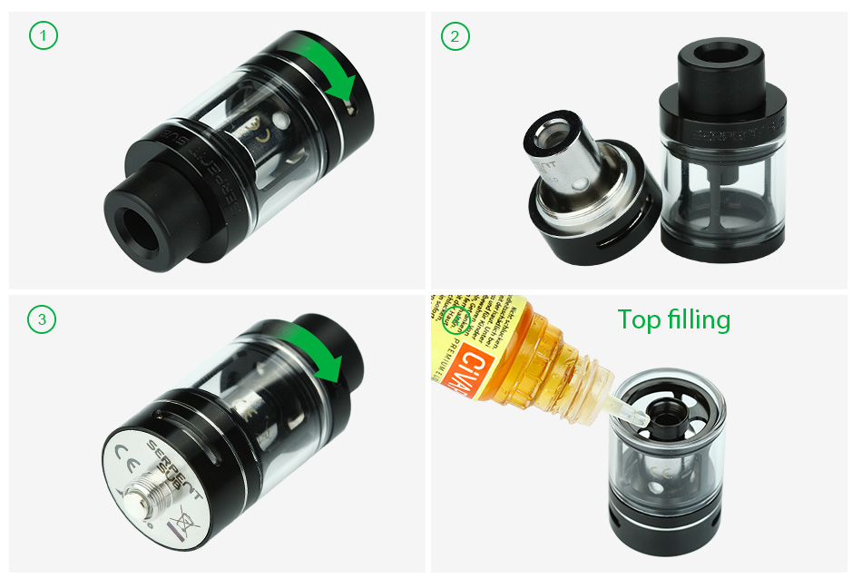 WOTOFO Serpent Sub 22 Tank Atomizer - 3.5ml, Black