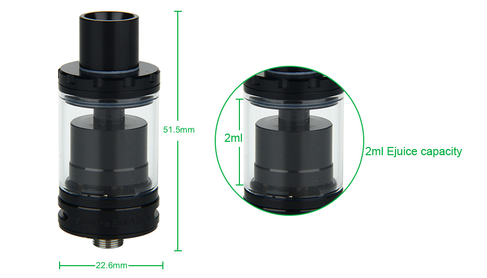 FreeMax Starre RDTA Mini Tank - 2ml, Black