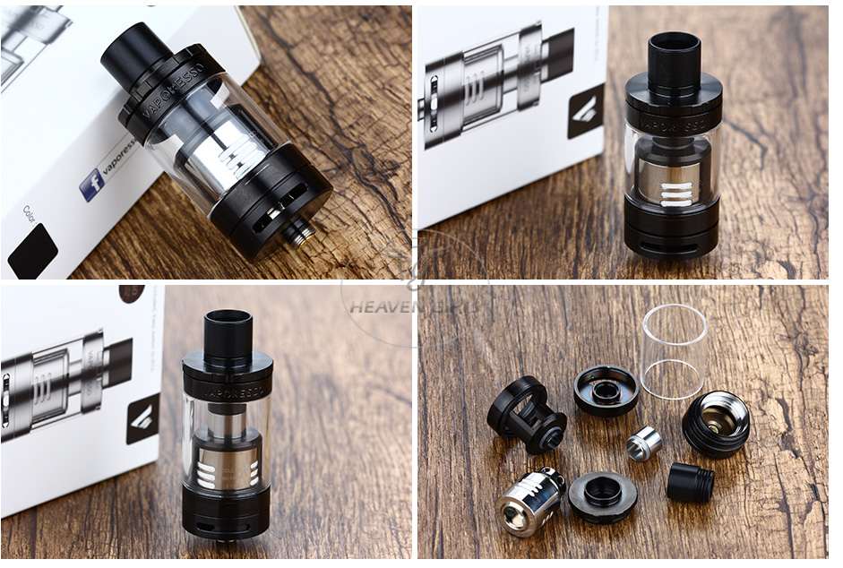 Vaporesso Giant Dual Tank with RTA Deck - 4ml, Black
