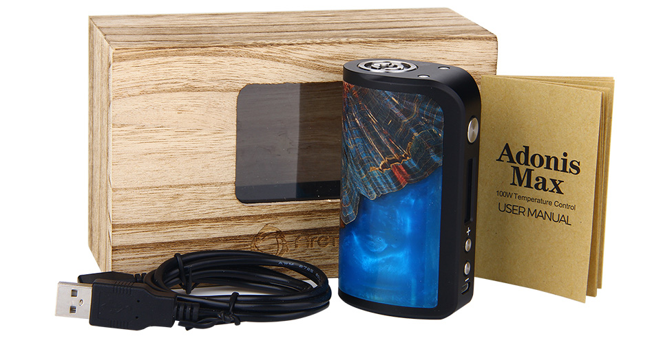 100W Arctic Dolphin Adonis Max Stabilized Wood TC MOD W/O Battery