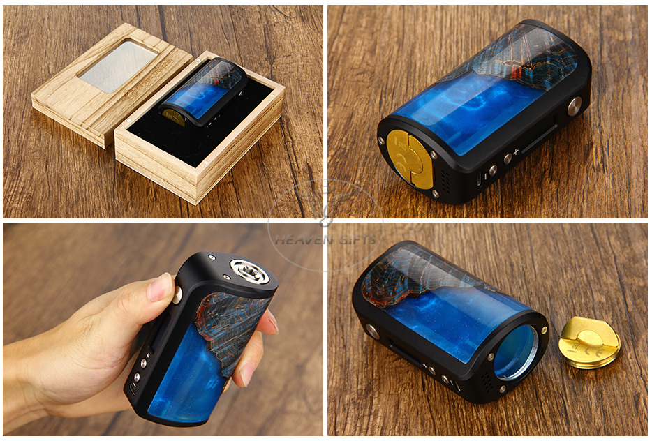 100W Arctic Dolphin Adonis Max Stabilized Wood TC MOD W/O Battery(