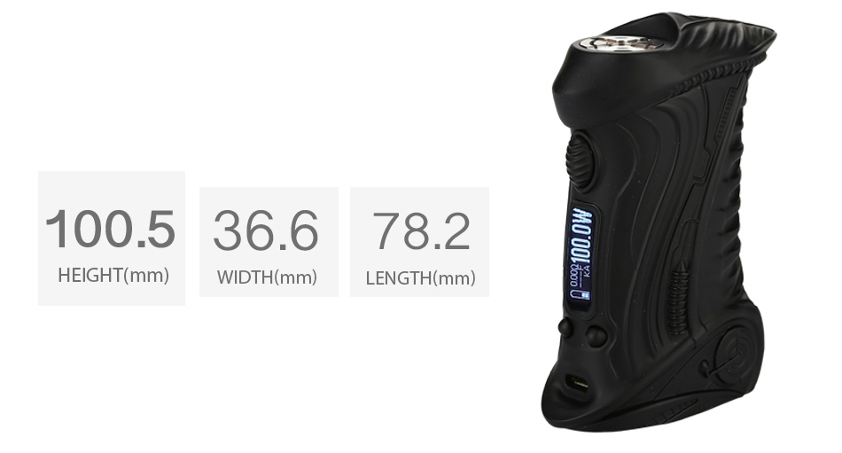100W ETALIENS E.T-X3 TC Box MOD W / O Battery