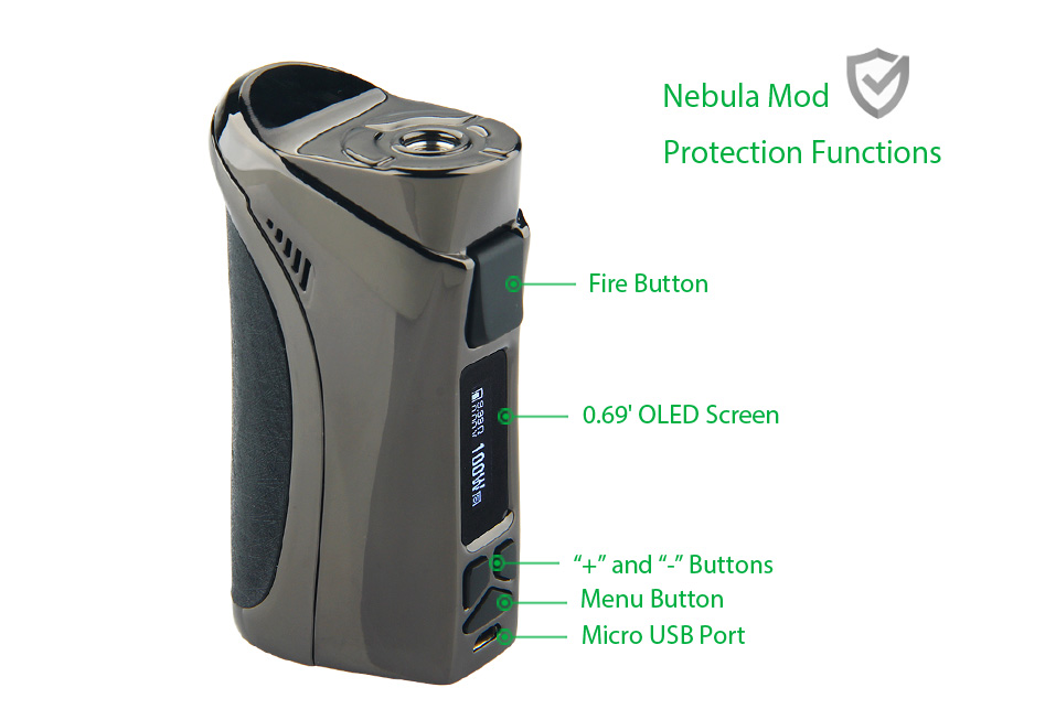 100W Vaporesso Nebula TC Box MOD W / O Battery