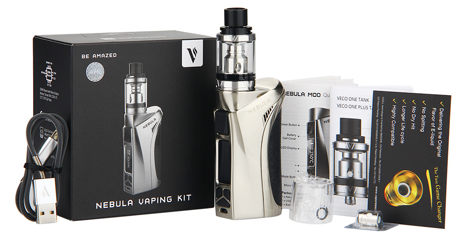 100W Vaporesso Nebula TC Kit dengan 4ml Veco Plus Tank W / O Battery