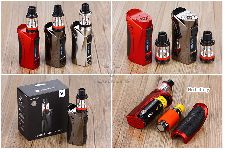100W Vaporesso Nebula TC Kit with 4ml Veco Plus Tank W/O Battery