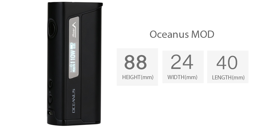 110W Innokin OCEANUS VW Box MOD with 20700 Battery - 3000mAh