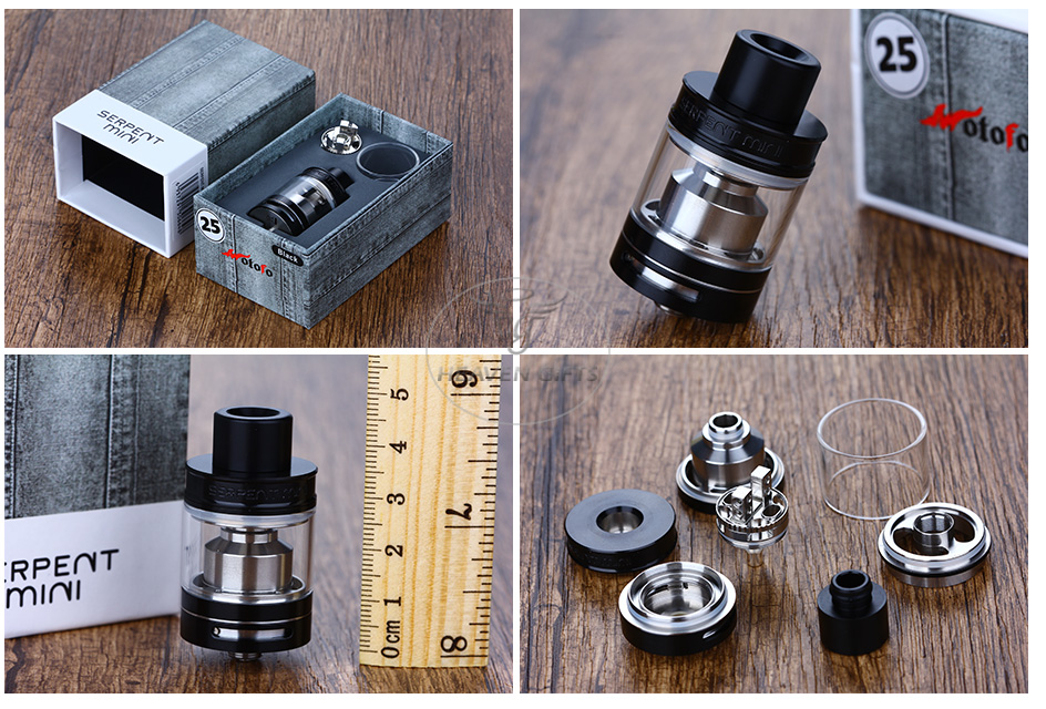 WOTOFO SERPENT MINI 25 RTA - 4.5ml, Siyah