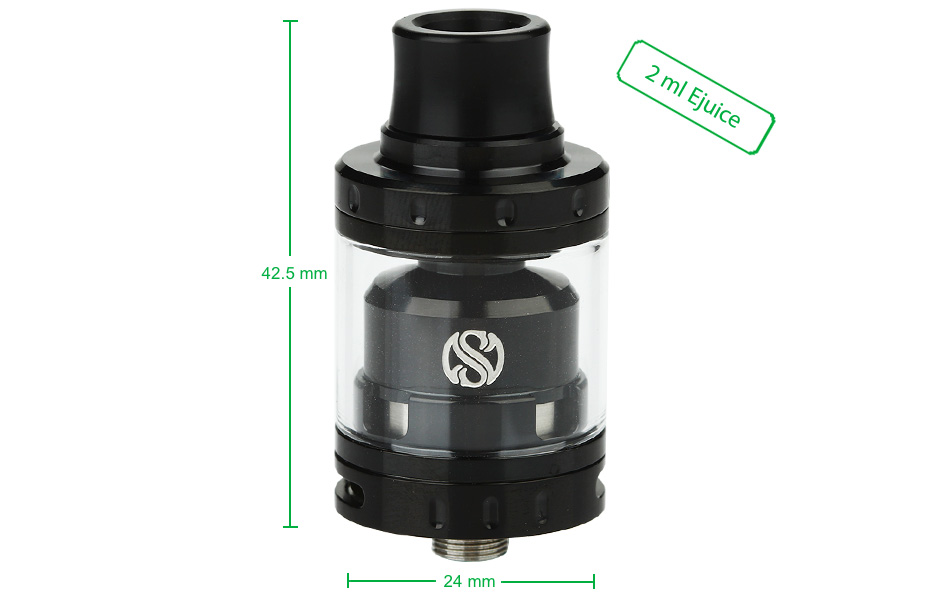 AUGVAPE Merlin Mini RTA - 2 мл, черный