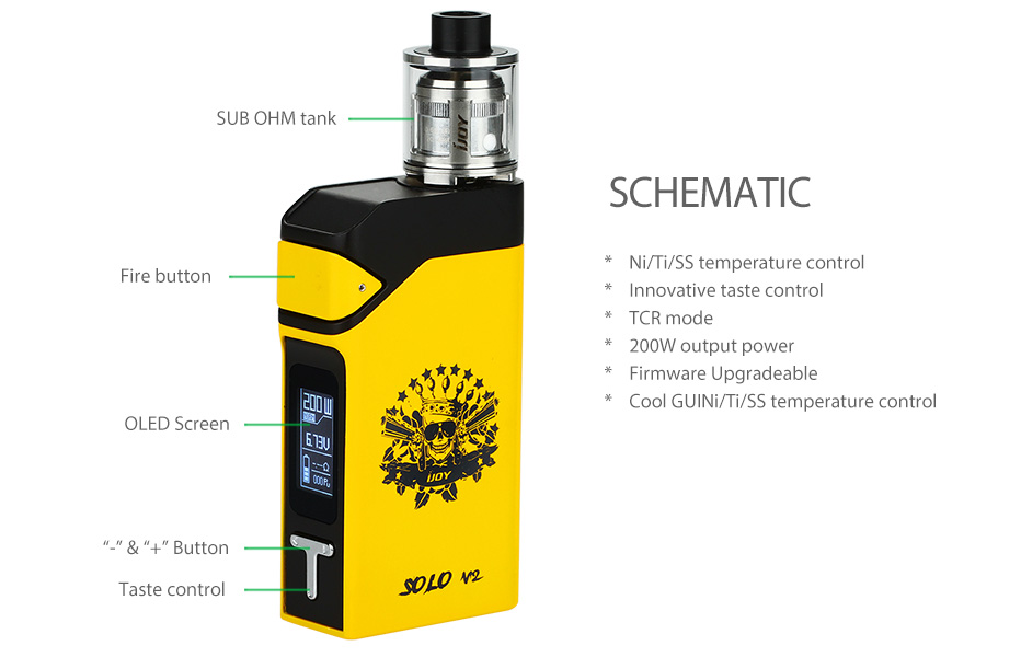 200W IJOY Solo V2 Starter Kit W / O Battery