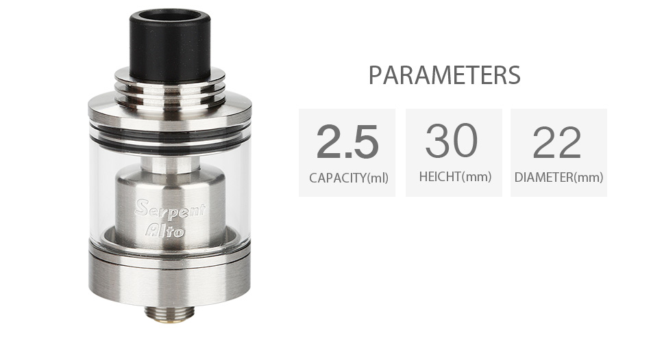 WOTOFO Serpent Alto RTA - 2.5ml, SS