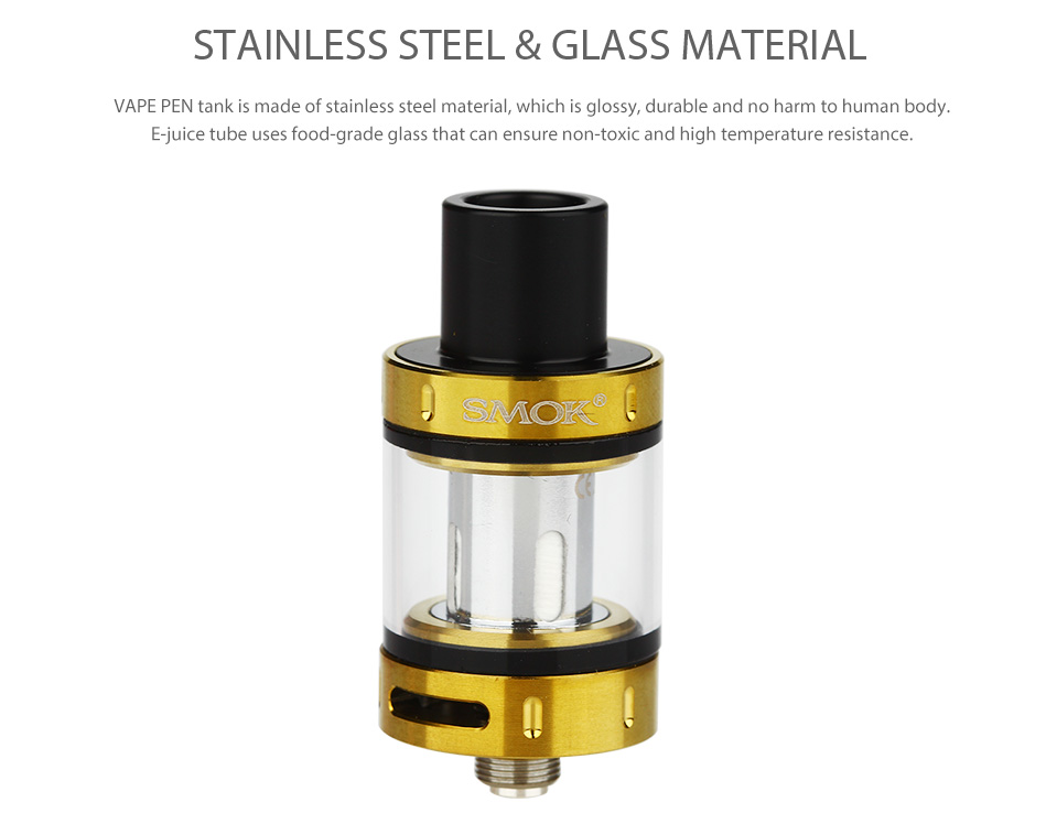 SMOK Vape Pen Tank - 2 мл, Black & Gold & Rainbow