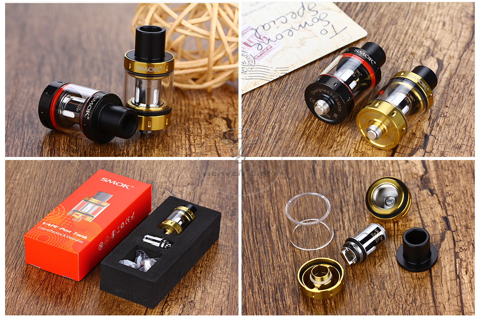 SMOK Vape Pen Tank - 2ml, Black & Gold & Rainbow