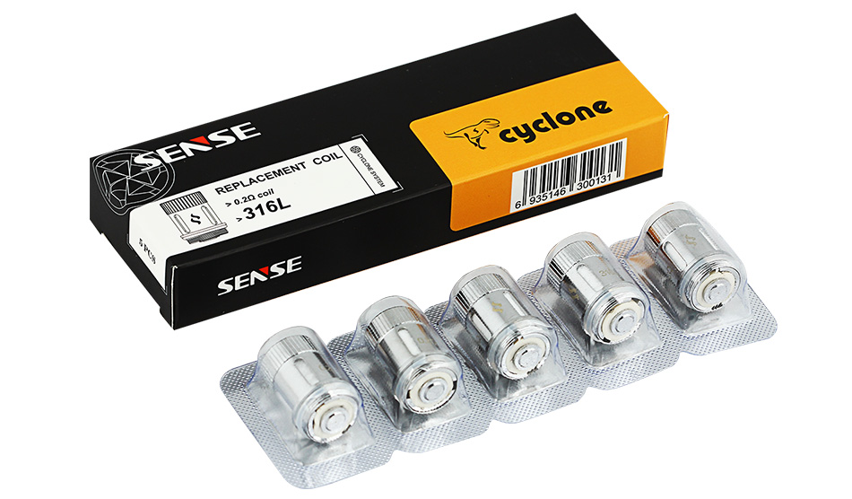 5pcs Sense Cyclone Sub-ohm Replacement Coil - 316L