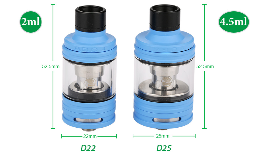 Eleaf Melo 4 Atomizer - 2ml & 4.5ml