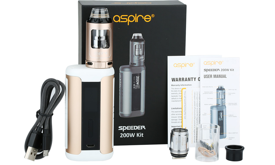 Aspire Speeder 200W TC Kit W/O Battery