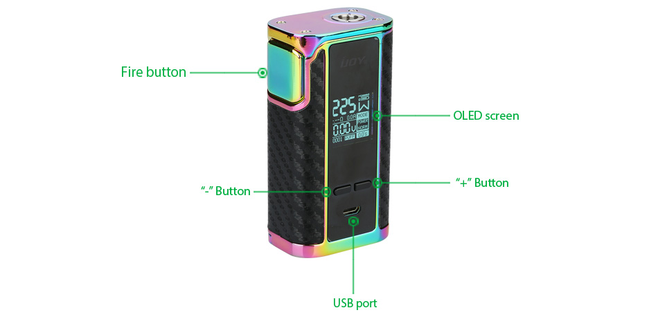 225W IJOY Captain PD1865 TC Box MOD W/O Battery