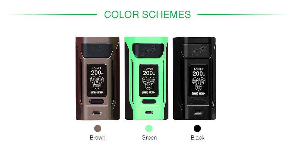 WISMEC Reuleaux RX2 20700 200W TC MOD with Dual Ampking 20700 Batteries 6000mAh