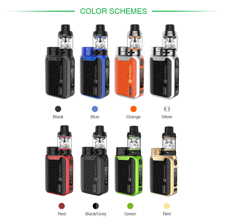 Vaporesso Swag 80W TC Kit with NRG SE Tank 2ml/3.5ml