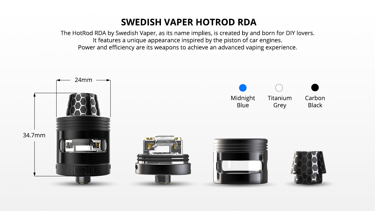 [UK Design] Swedish Vaper HotRod RDA