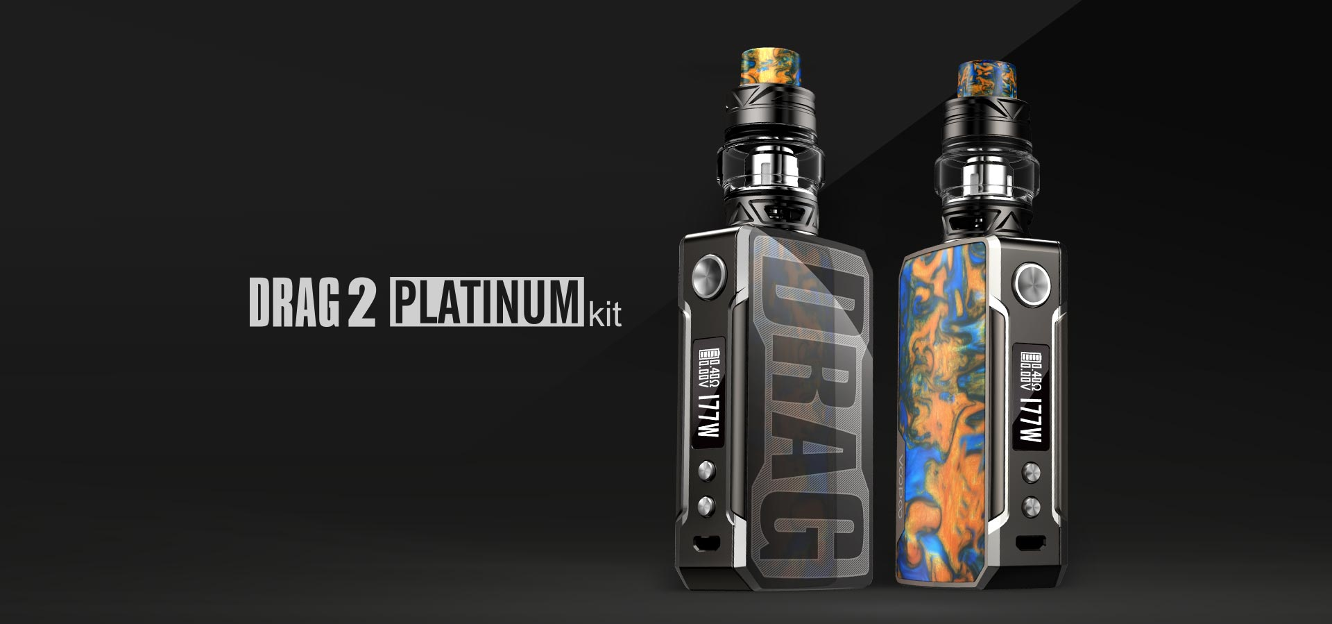 VOOPOO Drag 2 Platinum 177W TC Kit con UFORCE T2