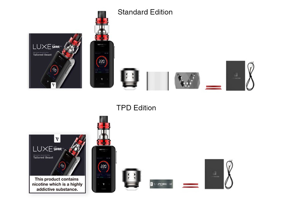 Vaporesso Luxe S 220W Touch Screen TC Kit with SKRR-S