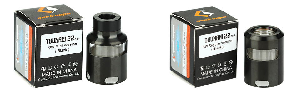 GeekVape Tsunami 22 Glass Window Top Cap - Black