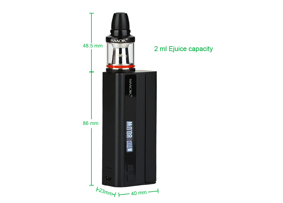 80W SMOK Quantum Brit Mini TC Start Kit W/O Battery, Starry Black