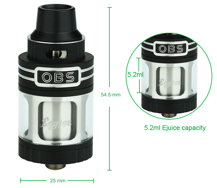 OBS Engine RTA Tank - 5.2ml, Black