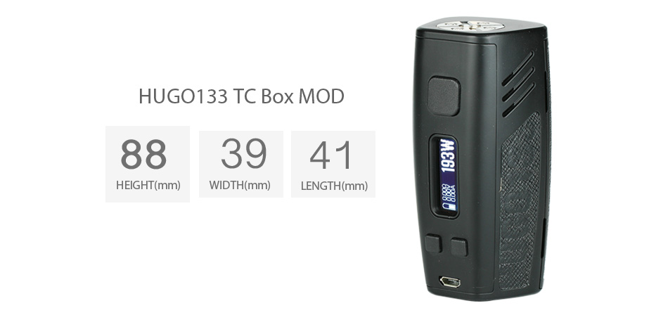 200W Hugo Vapor HUGO133 TC Box MOD W/O Battery