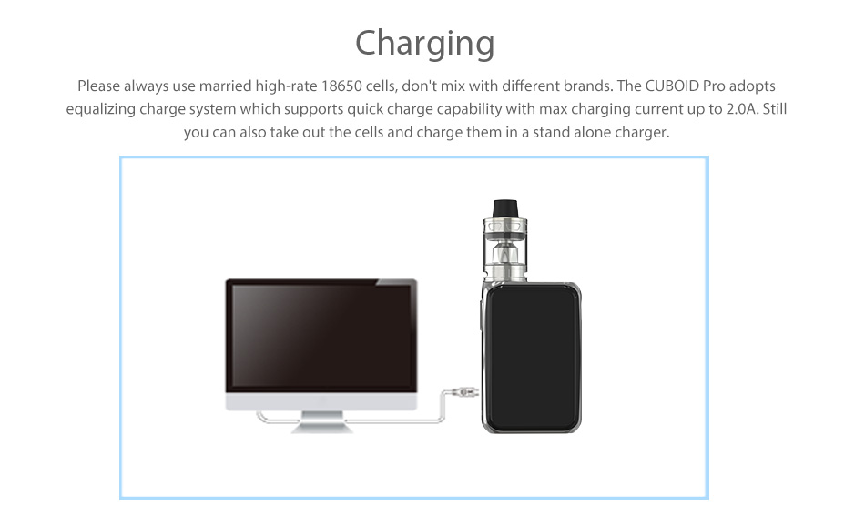 200W Joyetech Cuboid Pro with ProCore Aries Touchscreen TC Kit W/O Battery
