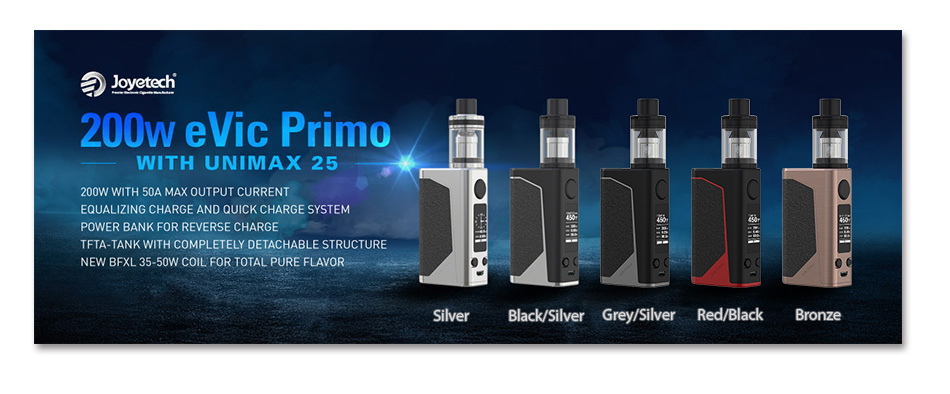 200W Joyetech eVic Primo with UNIMAX 25 Full Kit W/O Battery