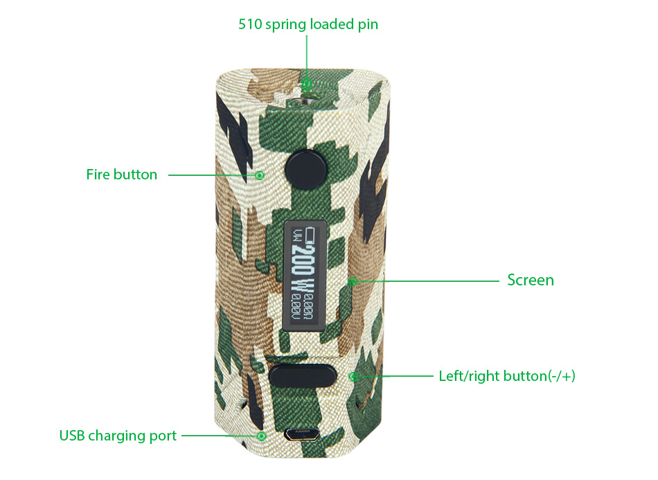 200 Вт Smoant Battlestar TC Box MOD W / O Battery