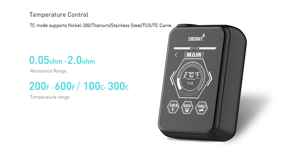 218W Smoant Charon TS Touch Screen TC Box MOD W/O Battery