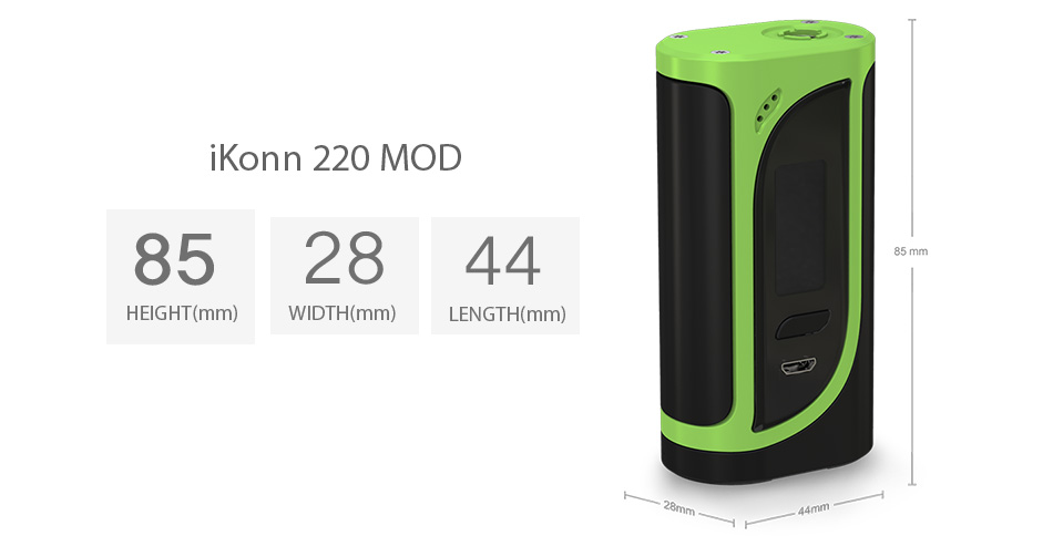220W Eleaf iKonn 220 Box MOD W / O Battery