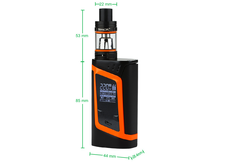 220W SMOK Alien Kit with TFV8 Baby W/O Battery