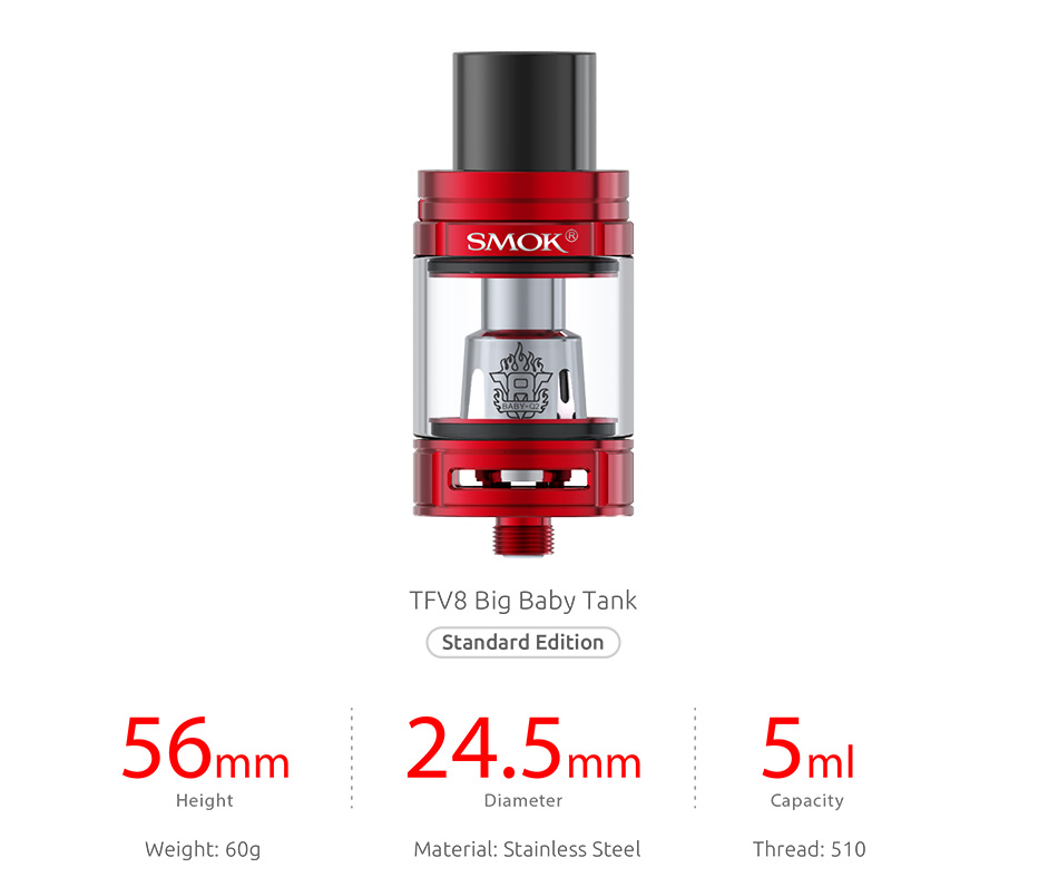 220W SMOK OSUB King TC Kit with TFV8 Big Baby W/O Battery