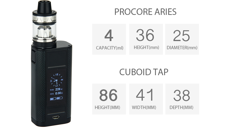 Sales Original Joyetech Cuboid Tap 228w Tc Kit With