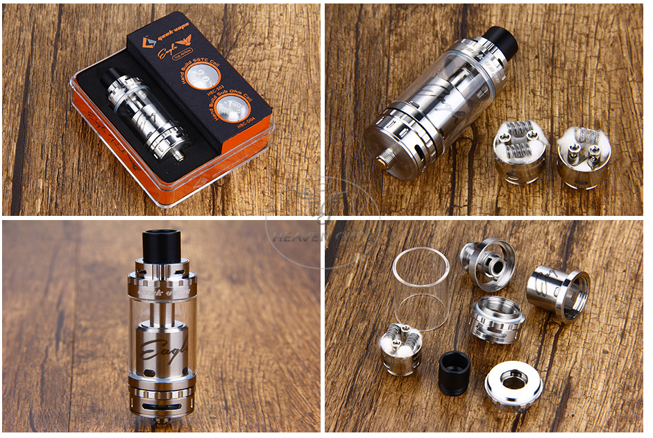 GeekVape Eagle Tank With HBC Top Airflow Version - 6ml, SS