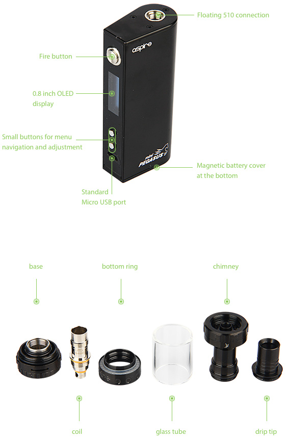 Aspire Odyssey Mini Kit with Triton Mini Tank, Black