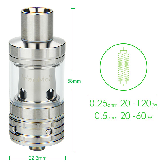 FreeMax Scylla SV Tank - 2ml, SS